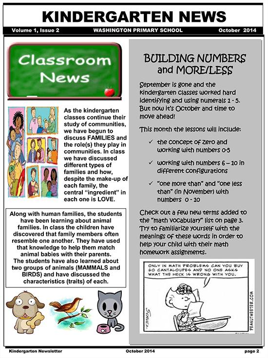 Kindergarten portfolio examples for teachers. 10 Free Kindergarten Newsletter Templates How To Create Word Pdf