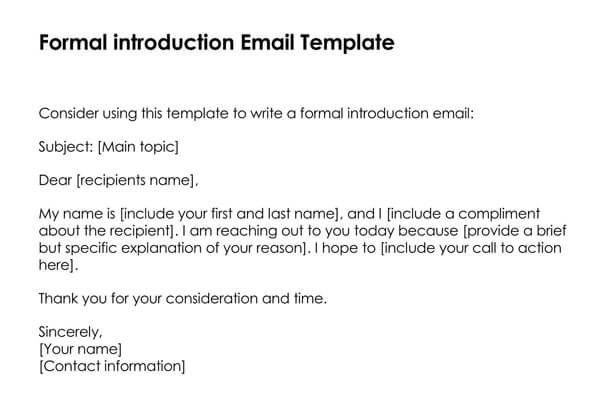 Networking is an important part of developing your career, but it can be intimidating to reach out to a stranger. How To Introduce Yourself In An Email Examples Templates