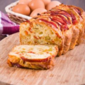 Cake olives_poivrons au psyllium, sans gluten