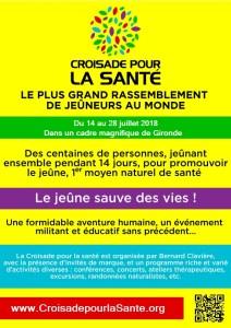 Croisade Santé jeûne bernard clavière évènement