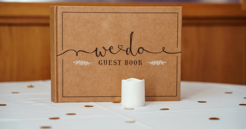 wedding guests book