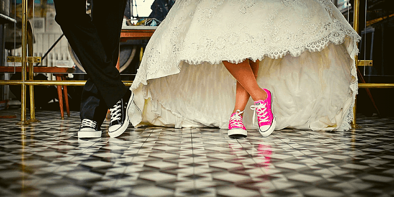 wedding on a budget shoes