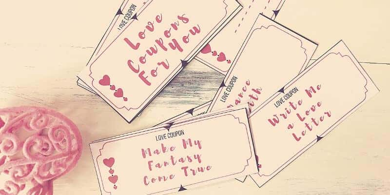 Instant Download Free Love Coupons