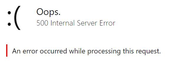 حدث خطأ أثناء معالجة طلبك