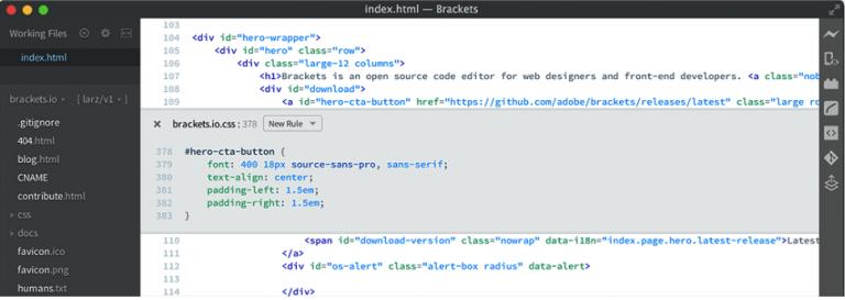 brackets-html-editor