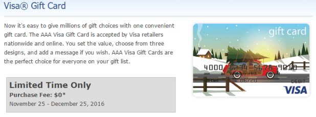 fee free visa gift cards for aaa members select areas doctor of - Visa Gift Card Online Purchase