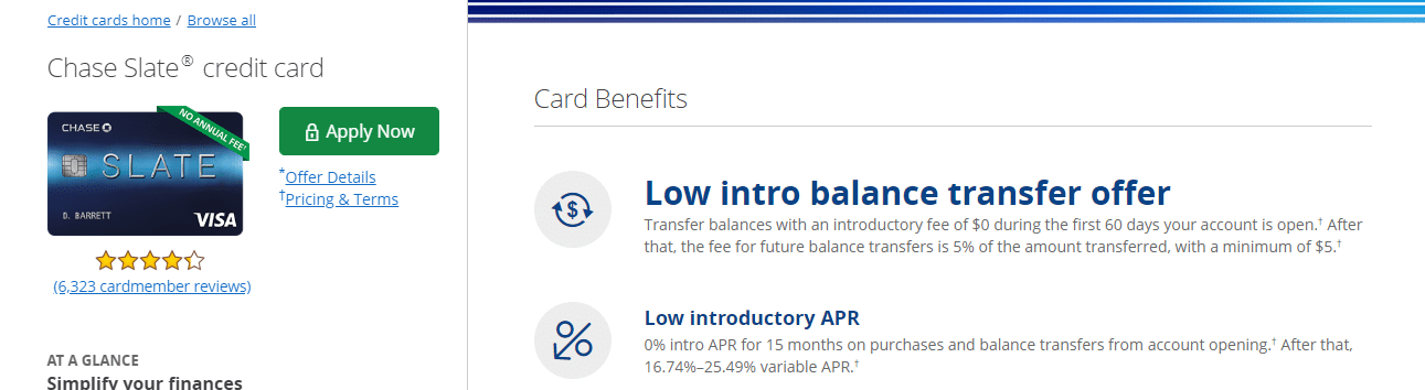 5x points per dollar, up to $12,500 spent in the first 6 months, on: Chase Slate Balance Transfer Changes (Maximum Balance Transfer Of $15,000) - Doctor Of Credit