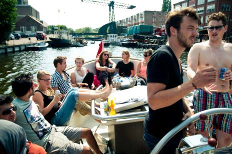 And a well-earned break on the canals of Amsterdam!