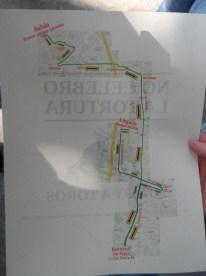 Mapa Caravana Antitaurina en Medellín