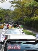 Durante el reccorrido de la Caravana Antitaurina en Medellín