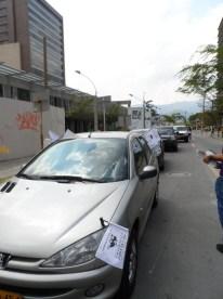 Llagada Caravana Antitaurina en Medellín