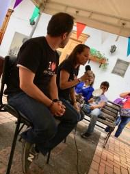 Carlos Naranjo y Girlesa Múnera en el Festival de Mascotas.