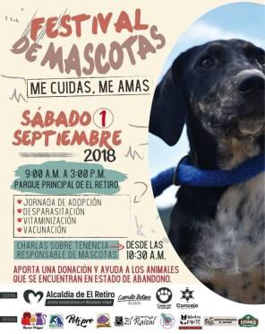 Afiche Festival de Mascotas.
