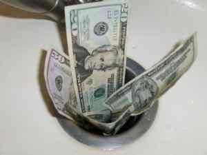 money_down_drain