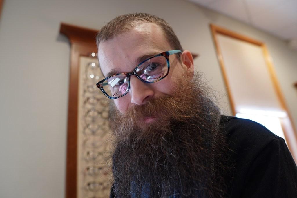 Brad's new glasses