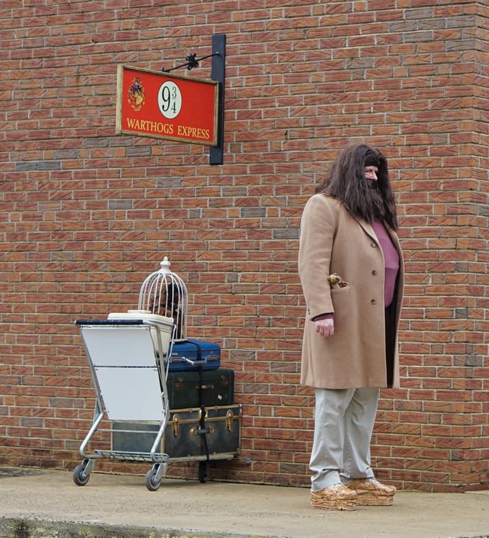 Hagrid at Platform 9 3/4
