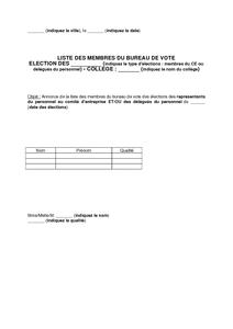 Modele Lettre Candidature Election Bureau Association