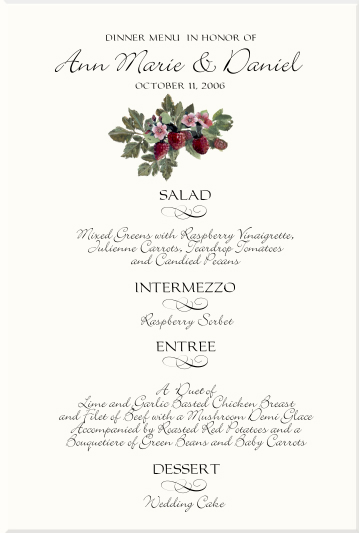 Vineyard Wedding Menu Cards Vineyard Wedding Ideas Grapes