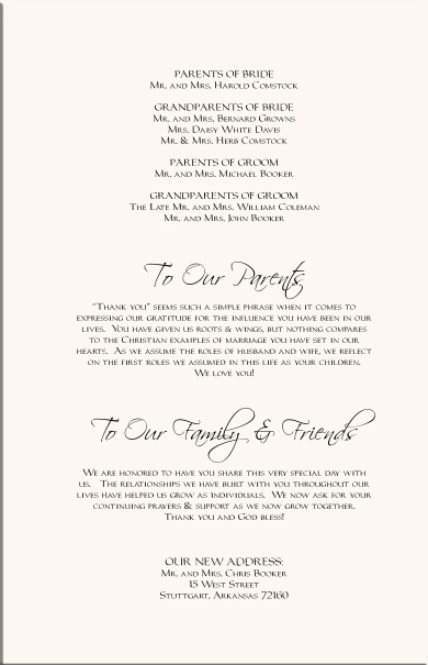 Wording For Wedding Thank You Cards That Are Late Wedding