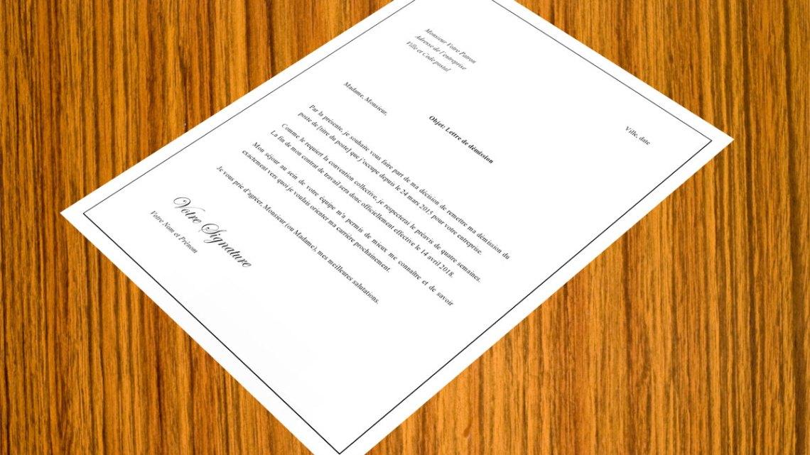 Lettre de démission pour incompatibilité avec un collègue