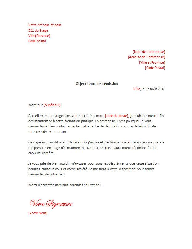 lettre_de_demission_pour_un_stage