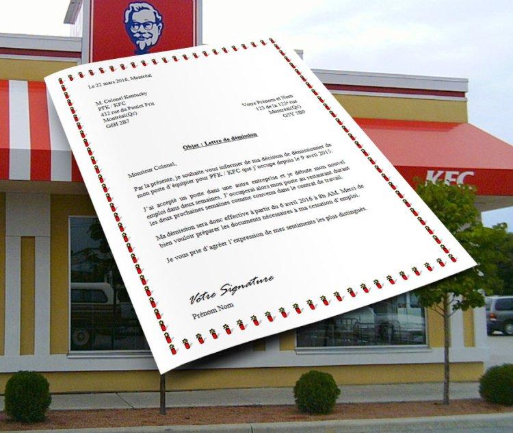 modele_lettre_de_demission_pfk_kfc_restaurant