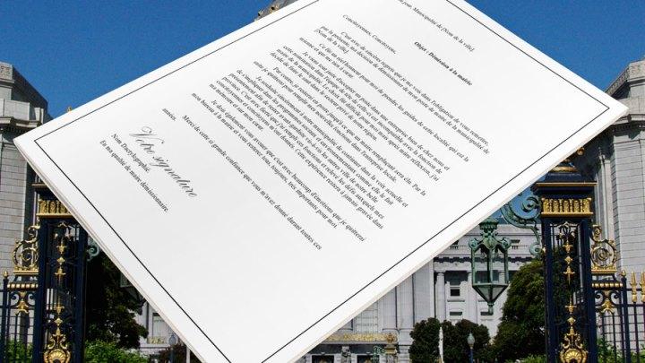 Lettre de démission pour la mairie