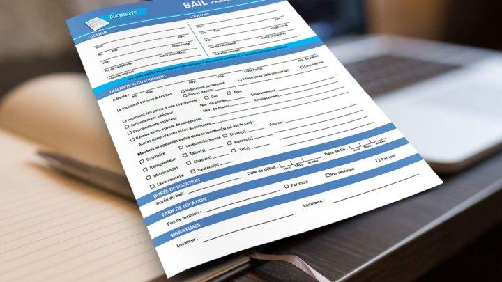 Bail d'habitation en PDF gratuit