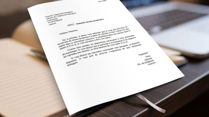 Lettre pour demander une retraite progressive