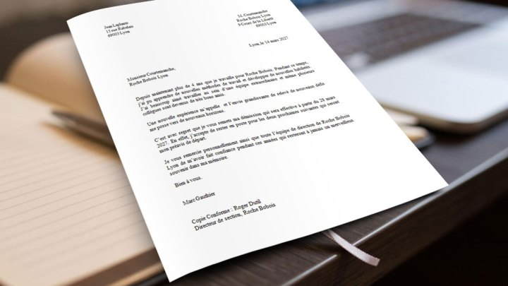 Exemple de Lettre de Démission Complétée