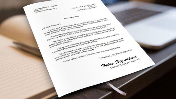 Lettre de démission française