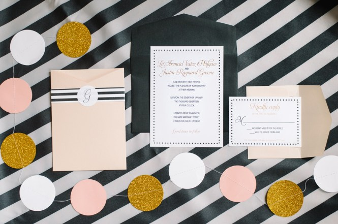 Preppy Wedding Invitation Invitations Charleston