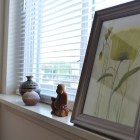Knick-knacks on the window sill. window sill decor