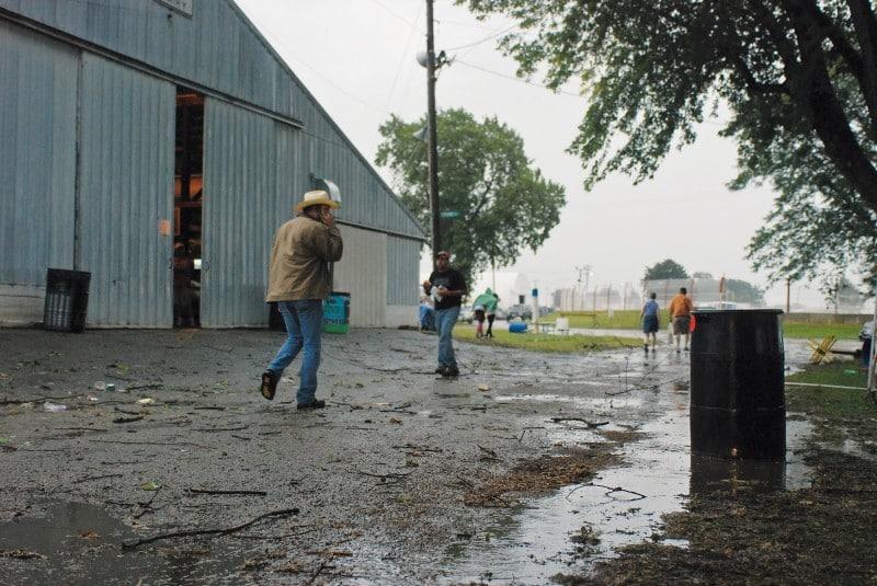 Fair has rain delay