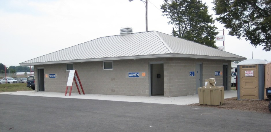New Restroom Building County Fair
