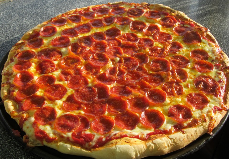 Pepperoni Pizza #FairFood sold by several vendors at the Dodge County Fair
