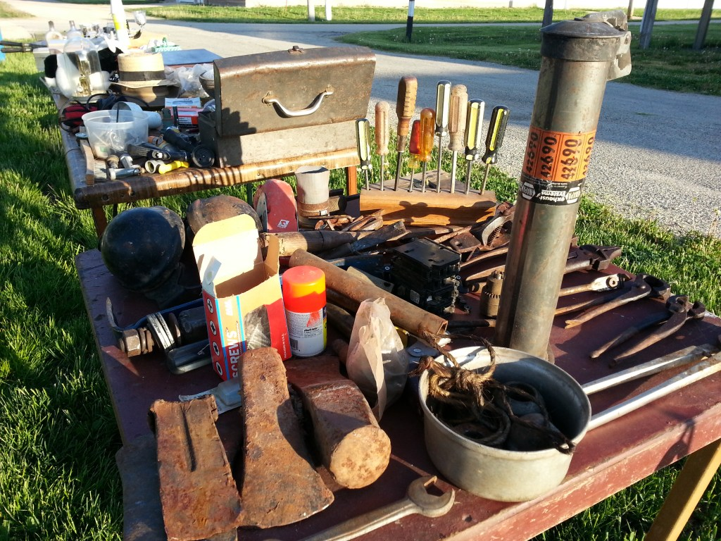 Vintage and rare items all for sale during the first Flea Market May 31, 2014