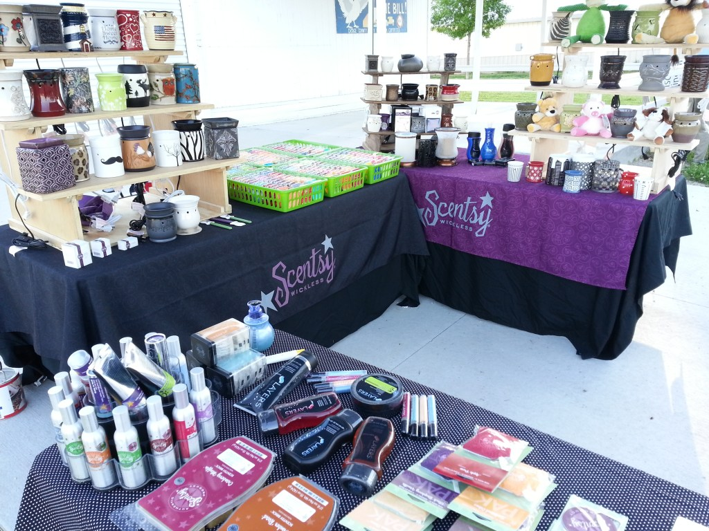 Bobby Jo Hardt Independent Scentsy Family Consultants Booth at the first Flea Market May 31, 2014