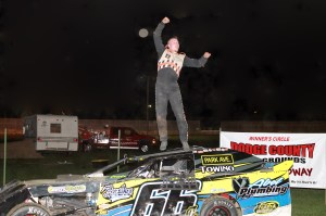 Colten VanHierden claimed the Sport Mod Feature Win at the first ever DCSA promoted local #DirtTrack Racing on the Horsepower Half Mile at the Dodge County Fairgrounds Speedway on Sunday Night, September 7th, 2014.