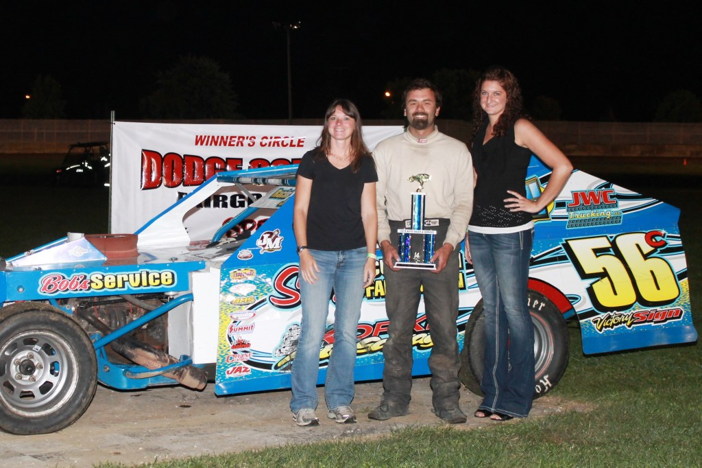 Jason Czarapata claimed the Modified Feature Win during the first ever DCSA promoted local #DirtTrack Racing on the Horsepower Half Mile at the Dodge County Fairgrounds Speedway on Sunday Night, September 7th, 2014.
