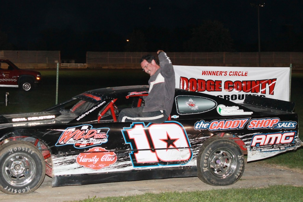 Roger Lee claimed the Grand National Feature Win at the first ever DCSA promoted local #DirtTrack Racing on the Horsepower Half Mile at the Dodge County Fairgrounds Speedway on Sunday Night, September 7th, 2014.