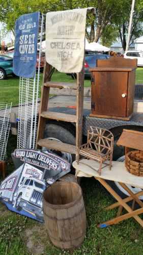 Burlap Sacks and Wood Whiskey Barrel
