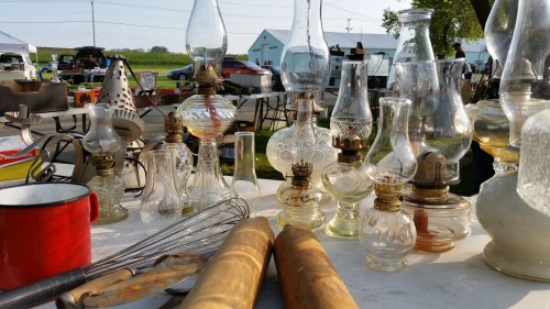 Oil Lamps at the Flea Market