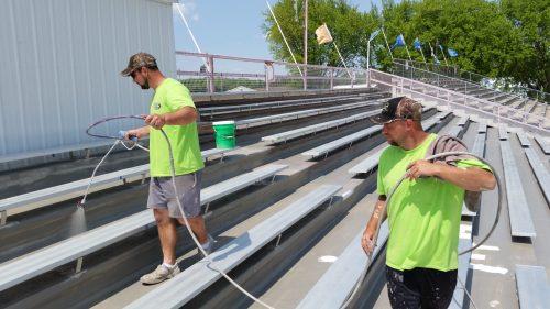 Schweitzer Spray Coatings Grandstand Roof Fairgrounds