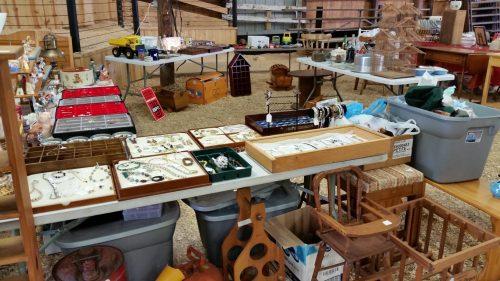 Indoor Vendor Space at the Dodge County Flea Market