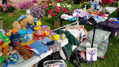 Thrift Discount and Sale Items at the Flea Market