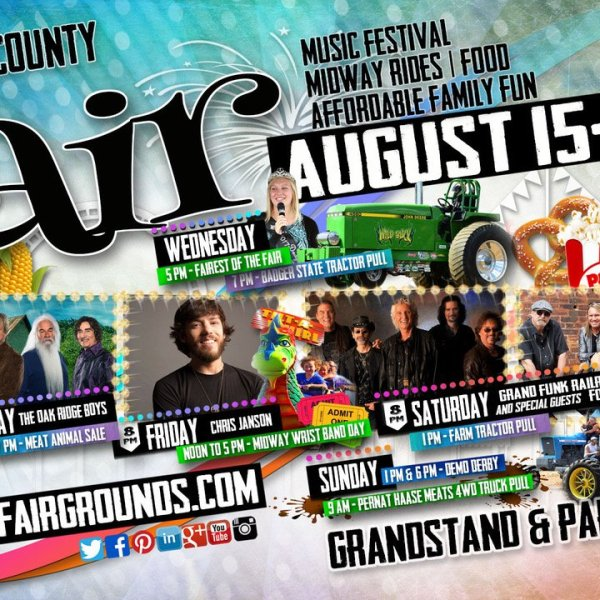County Fair Headliners lined-up for August