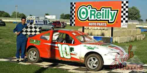 Mitch Fairbank Heat Race Win at Fairgrounds Speedway