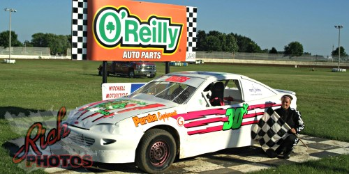 Jessica Ehlers Heat Race Win at Fairgrounds Speedway