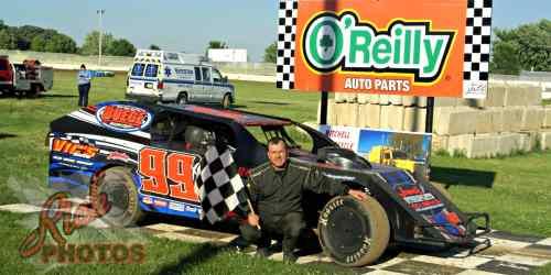 Jeremy Christians Heat Race Win at Fairgrounds Speedway